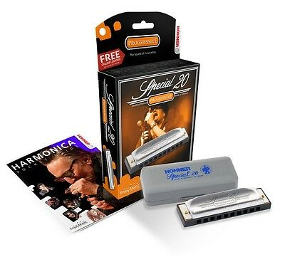 Harmonica - Hohner Special 20 Progressive Key Of G - Free Music Fun Harp+Lessons