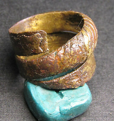 Ancient Bronze Viking Broken Ring (7.5). Cleared.