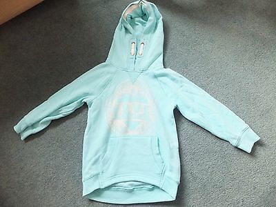 Girls mint green hoodie.  Age 5 years.  From Next.