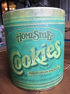 """Vintage Antique BALLONOFF Americana HomeStyle COOKIES Tin Canister Jar 8"""""""