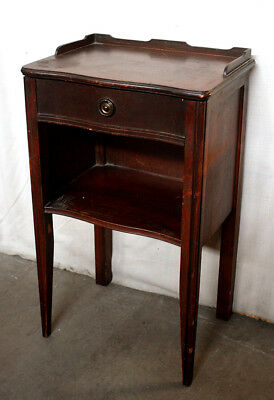 Vintage Antique SOLID Wood Wooden End Accent Storage Bed Side Table Nightstand