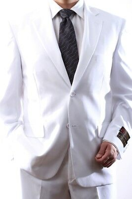 Mens Single Breasted 2 Button White Dress Suit, Pl-60212N-212-Wht