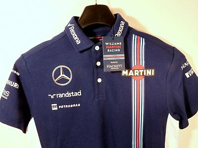 Williams Mercedes Martini Racing F1-Team – Poloshirt (M) – Motorsport Neuware