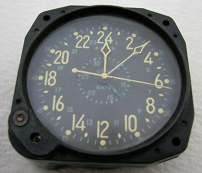 Vintage Waltham Civil Date 8 Day Aircraft Aviation Clock Parts Repair