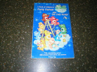 1984 A book of Children's Party Games with The Care Bears American Greetings
