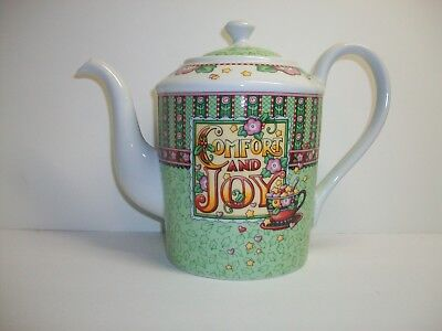 Mary Engelbreit Ink. 2003 {Comfort & Joy} Teapot Beautiful Colors.