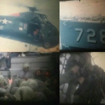 Rare! 8mm Film Home Movies USMC c1960 US Marines Helicopter Navy Ship Asia Movie