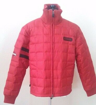 Harley Davidson An American Legand Womens Down Winter Jacket Coat Size Large Red