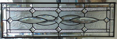 Stained Glass Transom or Sidelight window hanging  27 1/2 X 8 1/2