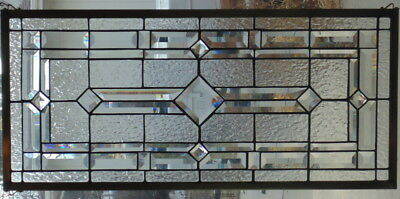 Stained Glass window hanging 33 X 15 1/2