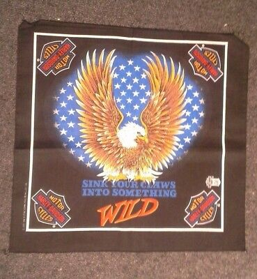 Harley Davidson Bandana Sink Your Claws Into Something WILD New old stock