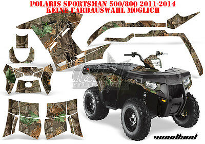 Amr Racing Dekor Kit Atv Polaris Sportsman 400/500/800 11-15 Woodland Lagerware
