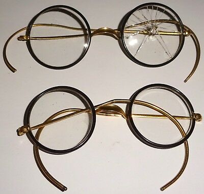 LOT of TWO (2) ASSORTED PAIRS of ANTIQUE EYEGLASSES! NR!