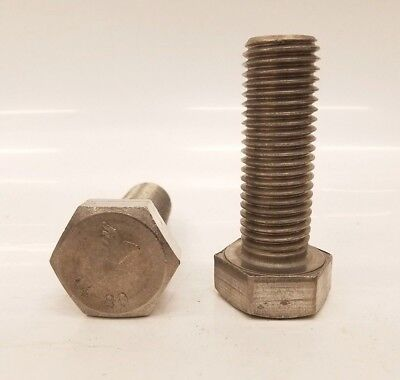 316 Stainless Steel Hex Cap Screw Bolt FT UNC 1//4-20 x 3//4 Qty 250