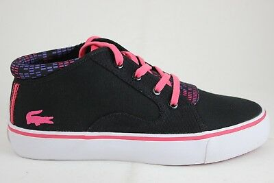 Lacoste Women's Chukkarette MP SCW Canvas Black/Pink 28SCW21041J1 New In Box