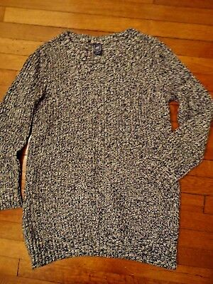 Gap Womans Maternity Sweater Tunic Dress Heavy Thick Knit Black Size Medium