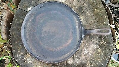 "Vintage Antique Cast Iron 10.5"" Griddle small 5 large 9"
