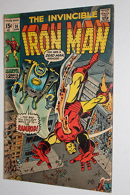 The Invincible Iron Man Marvel Comic Book #36, 1971