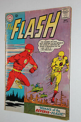 The Flash DC Comic Book #139, Sept 1963 1st Reverse Flash/Zoom