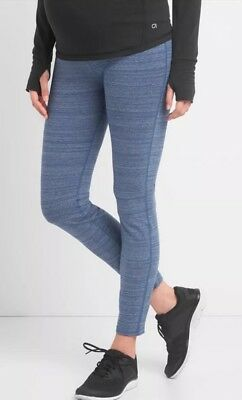 Gap Maternity Gapfit Gfast Full Panel Leggings Size M- *blue*- NWT