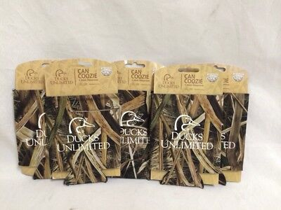 Lot Of 5 Ducks Unlimited Camoflauge Can Coozie Coolers Sleeves 3.5 Mm Neoprene