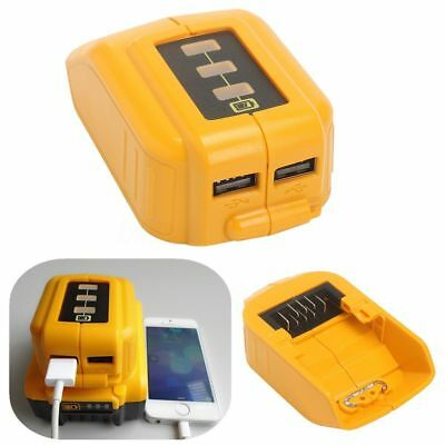 10.8V 20V USB Mobile Battery Charger Adapter For Dewalt Slide DCB184 DCB090