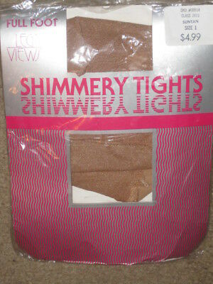 NEW Leg Views Shimmery Tights Suntan Size 1  Dance other