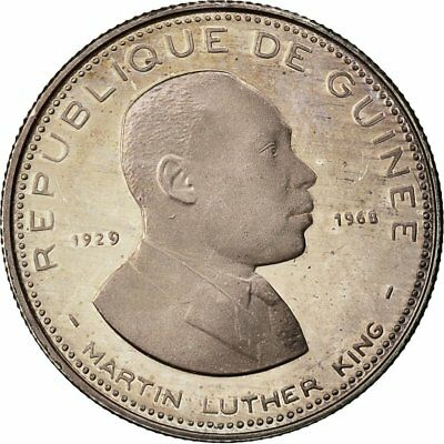 [#481857] Coin, Guinea, 100 Francs, 1969, MS(63), Silver, KM:9