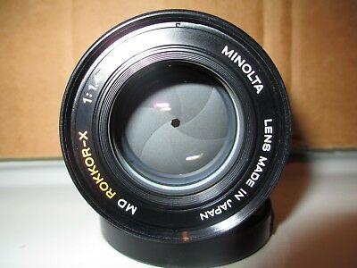 Minolta MD Rokkor-X 50mm 1.4 lens