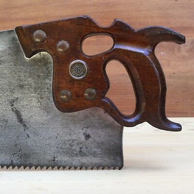 PREMIUM Quality SHARP! Vintage DISSTON Thumbhole D8 4.5PPI Rip SAW Old Tool #318