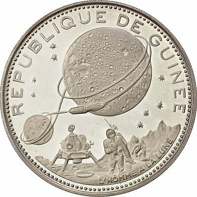 [#481854] Coin, Guinea, 250 Francs, 1970, MS(63), Silver, KM:12