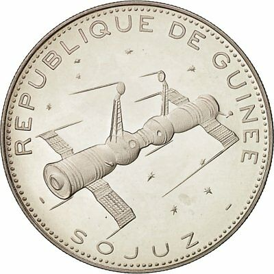 [#481855] Coin, Guinea, 250 Francs, 1970, MS(63), Silver, KM:21