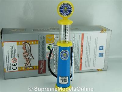 Oldsmobile Petrol Gas Pump Model 1/18 Scale Visible Blue/yellow Example T312Z(=)