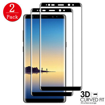 [2-PACK] Samsung Galaxy Note 8 S8 Tempered Glass Full Cover 3D Screen Protector