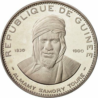 [#481858] Coin, Guinea, 200 Francs, 1969, MS(63), Silver, KM:11