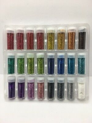 Original Stationery Arts and Crafts Glitter Shake Jars, Extra Fine, 24 Set