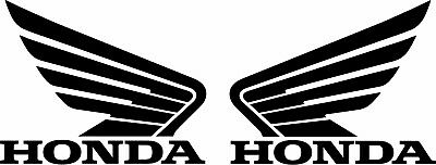 2 x HONDA WING stickers pair tank decals, top quality, various sizes and colours