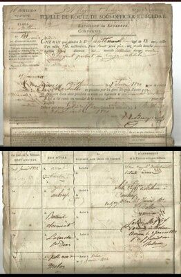 Militaria Document  Feuille de route  Bethune- Marseille d'un sous officier 1822