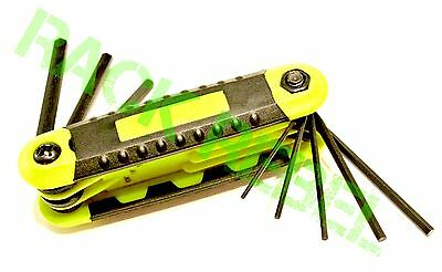 8-piece Allen Wrench Hex Key Ring Set Yellow