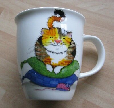New Dunoon fine bone china mug 'Comfy Cats' with cute cats inside and out
