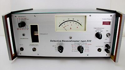 Selective Nanovoltmeter Unipan Type: 233 working voll funktionsfähig