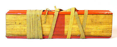 c1880, ANTIQUE 19thC BURMESE BUDDHIST PALI KAMMAVACA PALM LEAF PRAYER MANUSCRIPT