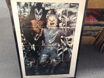 KISS Vintage Poster Gene and Wolf 31 x 20 inch Magazine Fold-Out centerfold NICE