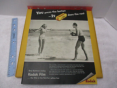 1947 Kodak Verichrome Film 40's Beach Scene  Camera Vintage Ad