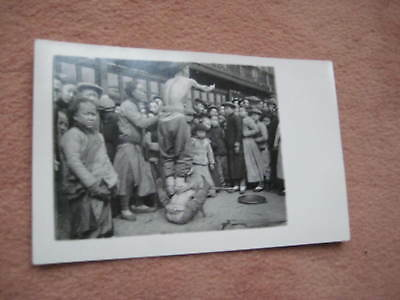 AK Foto China chinese artists on the street in Shanghai Feb. 1930 9 x 14 cm