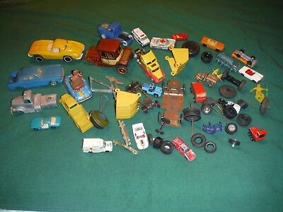 Vintage Junk Drawer Cars, Trucks, Toy Wheels Tires Car Parts  And Toy Parts