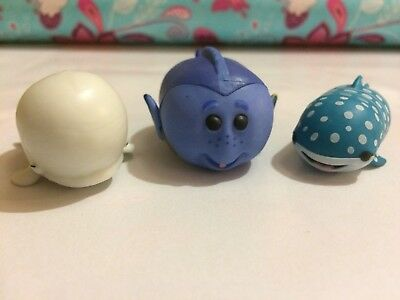 Collection Of Three 3 Small Tsum Tsum Disney Finding Nemo Collectibles Toys