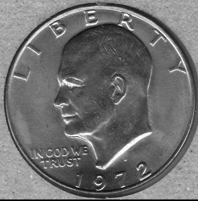 1972-D  Uncirculated  Eisenhower (Ike) Dollar (Some Toning)