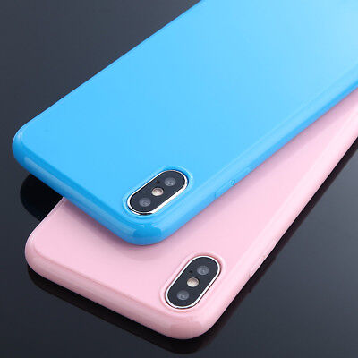 Ultra Thin Candy Color Rubber Soft TPU Case Cover For iPhone X 8 7 6 Plus 5 SE
