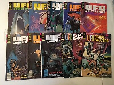 Ufo Flying Saucers Comics Lot! #4,9,14 & Outer Space #16,17,19-23 Gold Key!